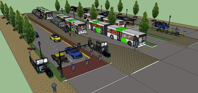 Propuesta de la Universidad de los Andes para el BRT Alameda Providencia.