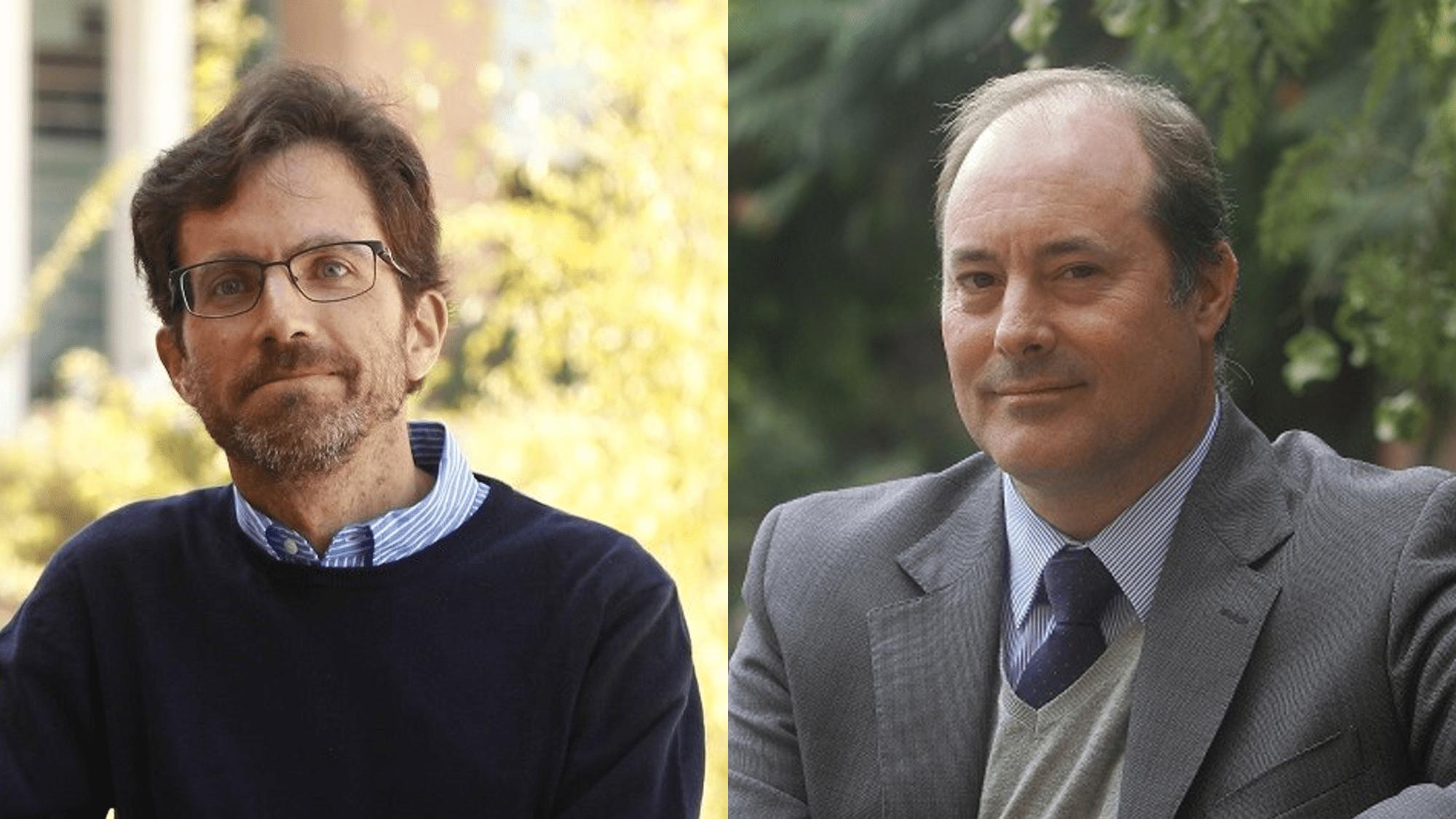 Jaime Cisternas y Jaime Anguita, académicos de la Facultad de Ingeniería y Ciencias Aplicadas de la Universidad de los Andes.